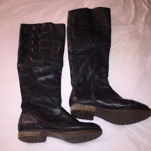Shoes | Steve Madden Black Boots with Buckles